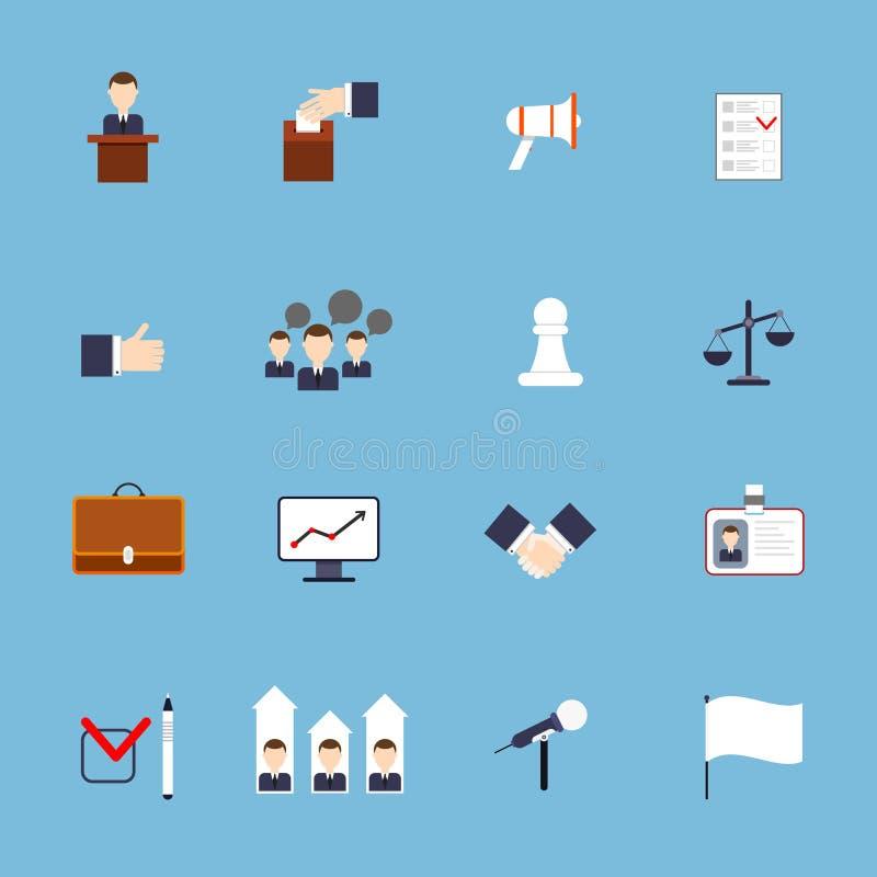 Wybory ikona ustawiający mieszkanie ilustracja wektor