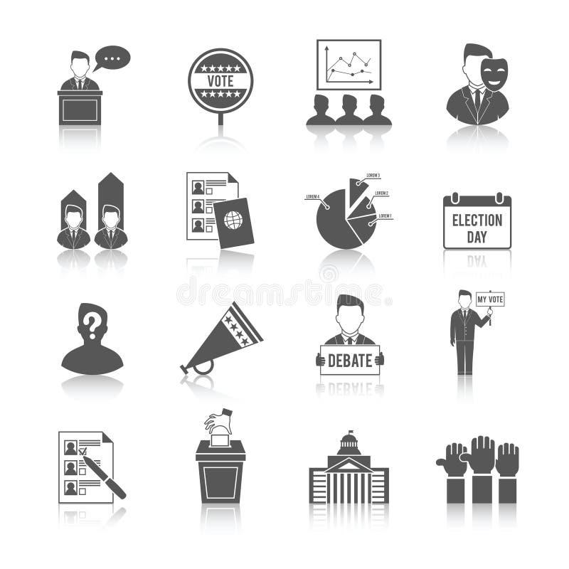 Wybory ikony set royalty ilustracja