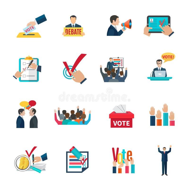Wybory ikony ustawiać royalty ilustracja