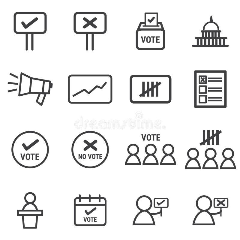 Wybory ikony ustawiać, płaskiego projekta wektorowy illlustion eps10 ilustracji