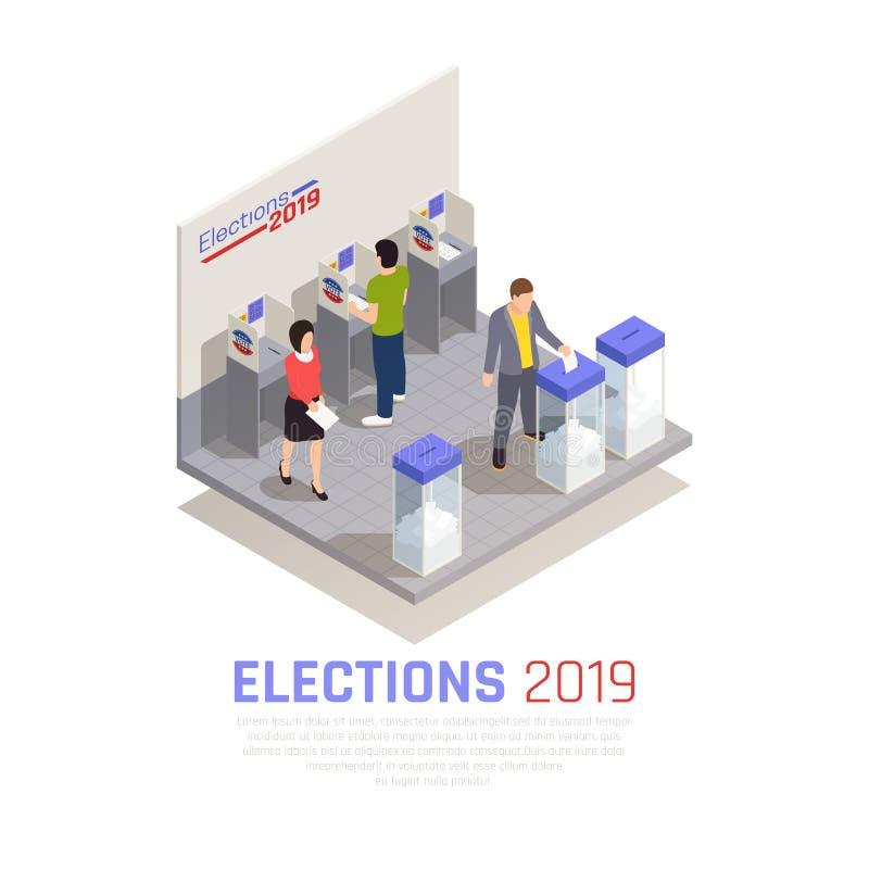 Wybory Isometric pojęcie royalty ilustracja