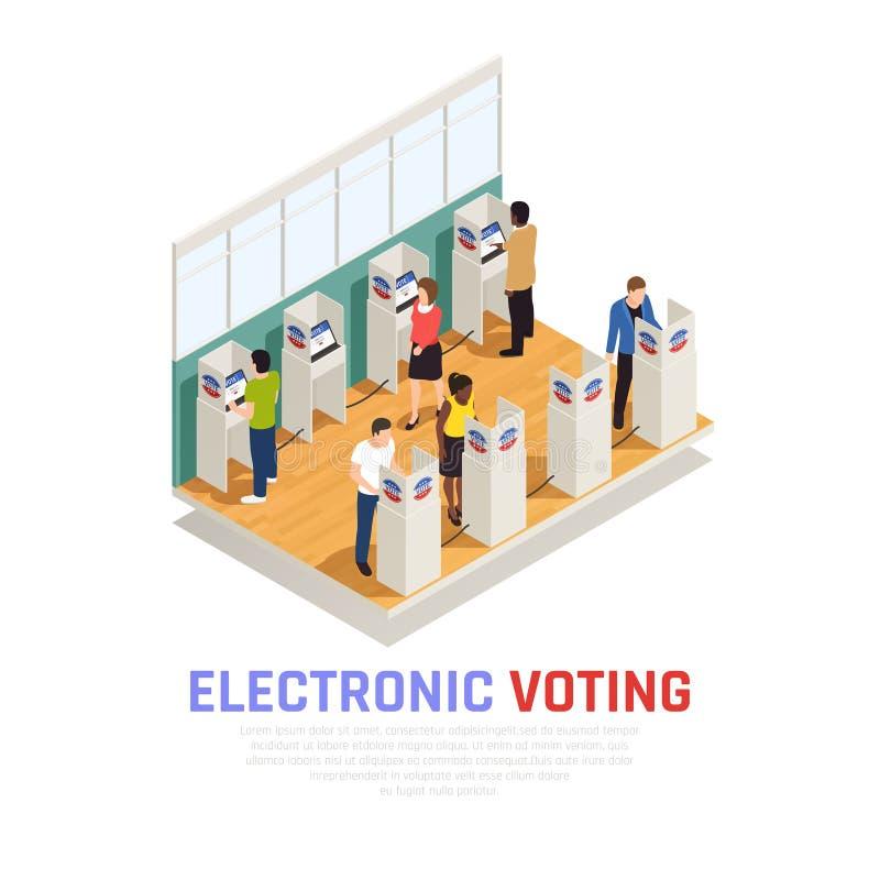 Wybory Isometric skład ilustracja wektor