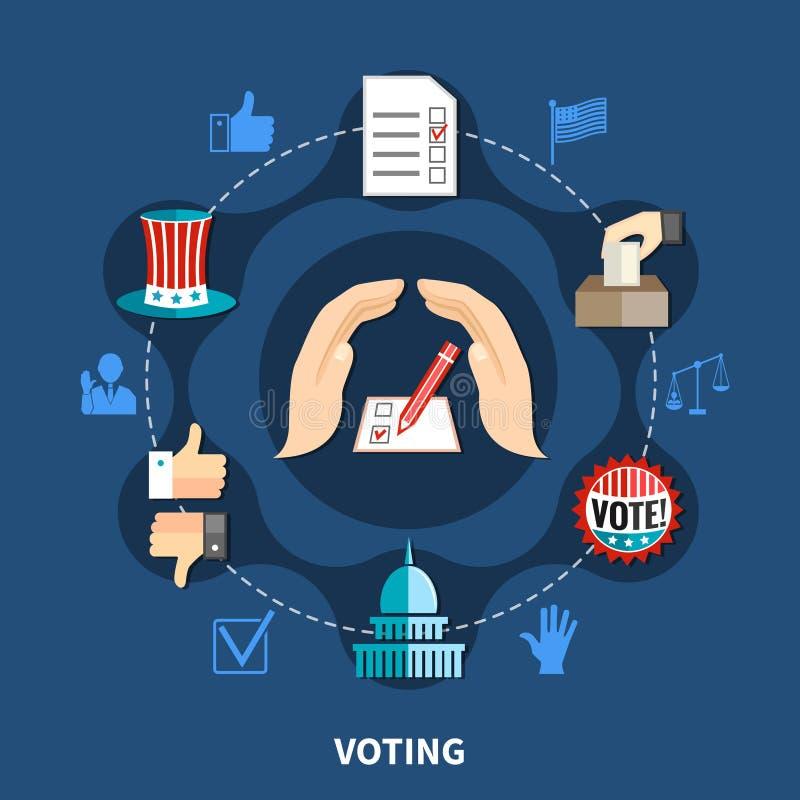Wybory kampanii pojęcie ilustracji