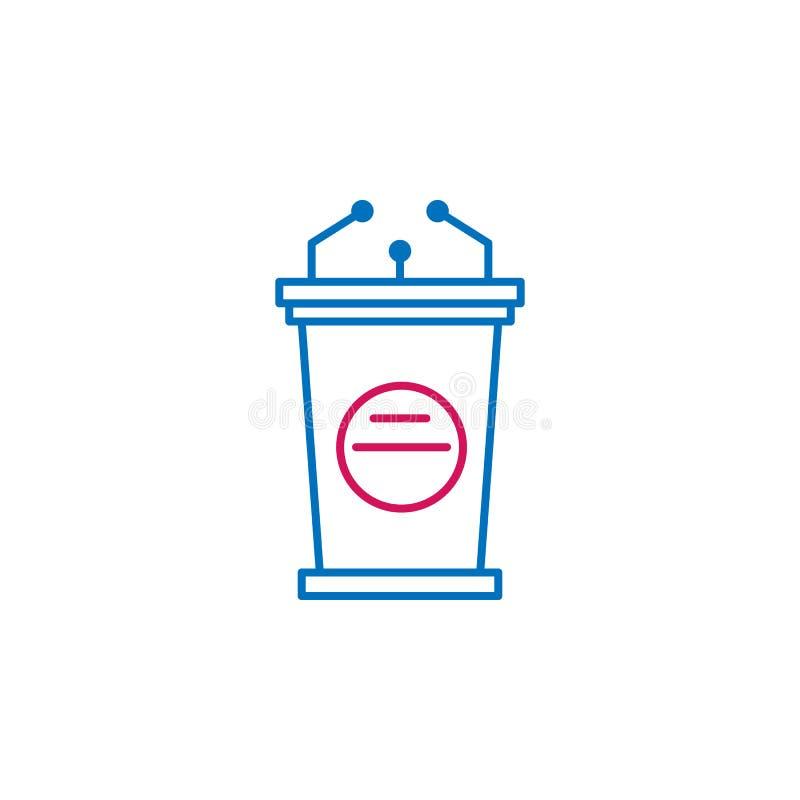 Wybory, mowa konturu barwiona ikona Może używać dla sieci, logo, mobilny app, UI, UX ilustracji
