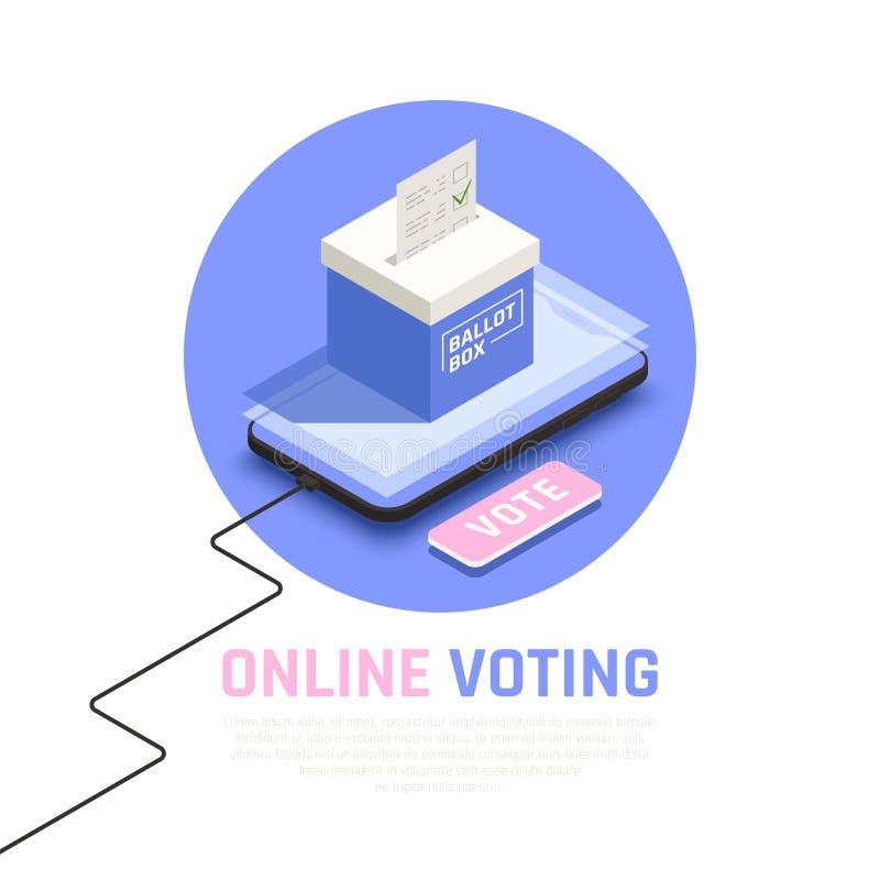 Wybory pojęcia ilustracja ilustracji