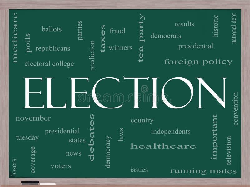 Wybory pojęcie na blackboard ilustracja wektor