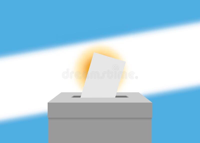 Wybory sztandaru tło ilustracji