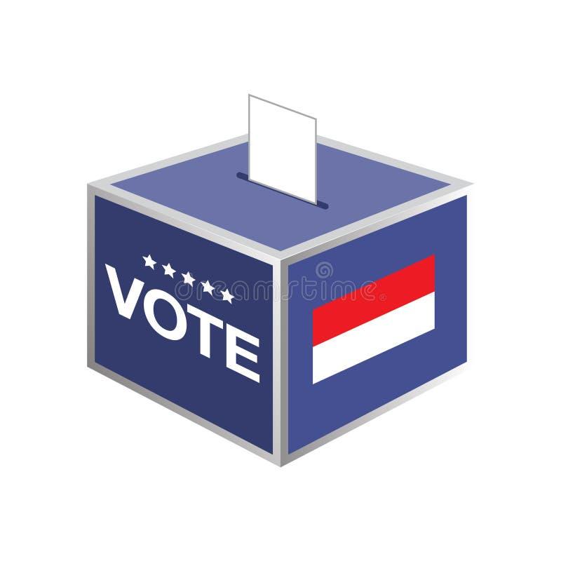 Wybory tajnego głosowania pudełka Indonesia kraj royalty ilustracja