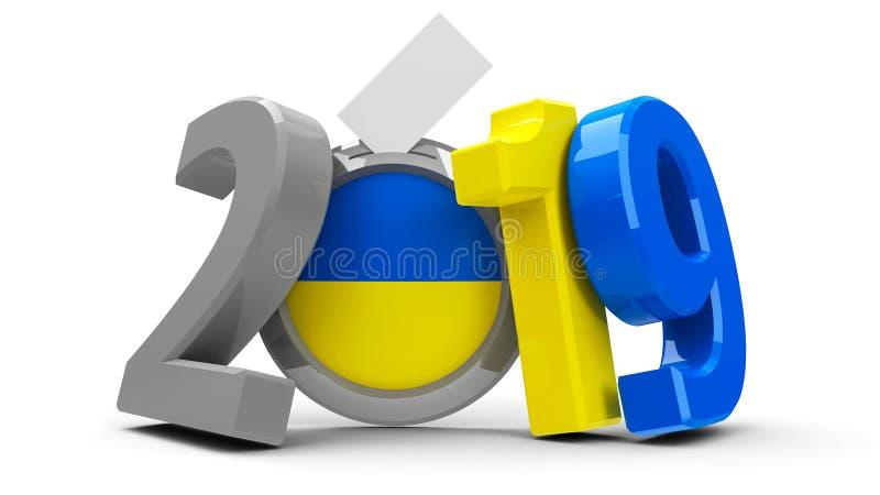 Wybory Ukraina 2019 ilustracji