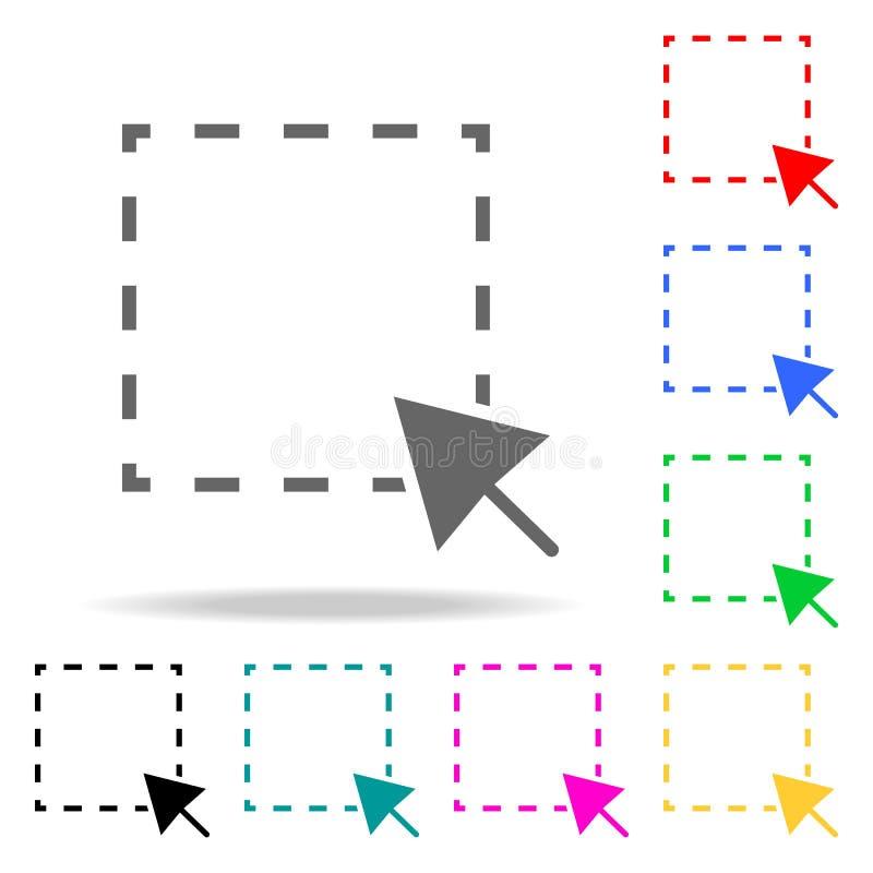 Wybrana teren sieci ikona Elementy w wielo- barwionych ikonach dla mobilnych pojęcia i sieci apps Ikony dla strona internetowa ro ilustracja wektor