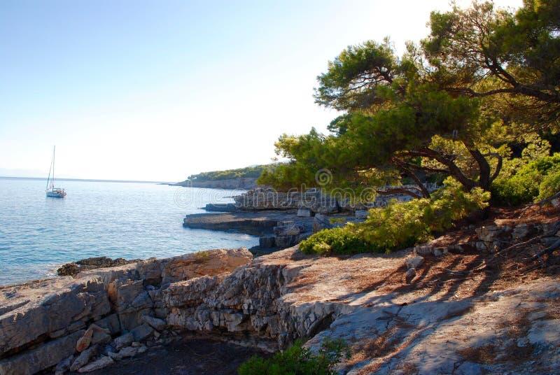 Wybrzeże Alonissos, Grecka wyspa fotografia royalty free