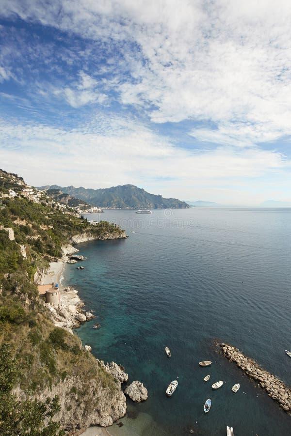 Wybrzeże Amalfi obrazy royalty free