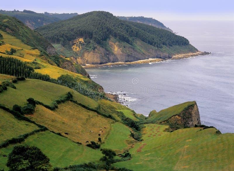 wybrzeże asturii Hiszpanii fotografia royalty free