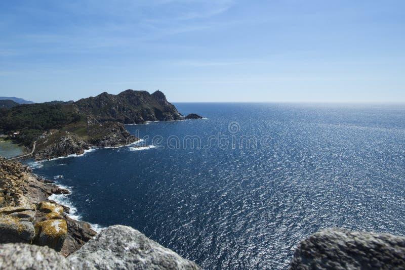 Wybrzeże CÃes wyspy przy dniem zdjęcie stock