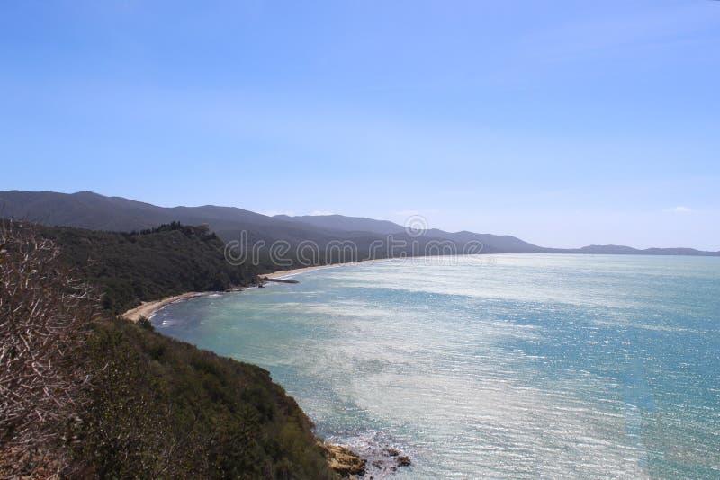 Wybrzeże Cala Civette, Tuscany, Włochy obrazy royalty free
