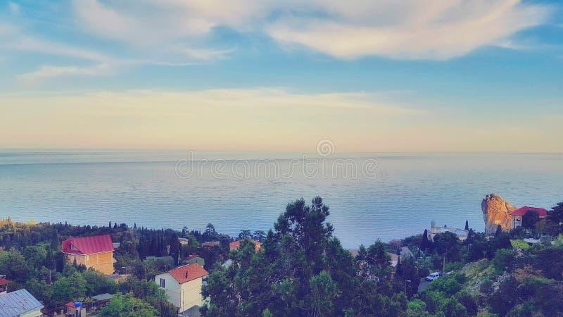 Wybrzeże Crimea w wiośnie obraz royalty free
