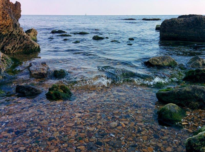 Wybrzeże i niebo zdjęcia stock