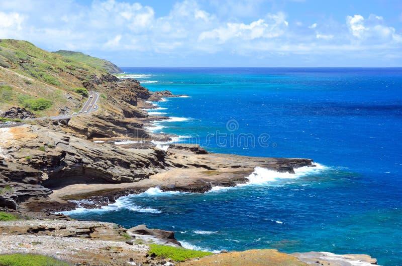 Wybrzeże, Ohau, Hawaje zdjęcia royalty free