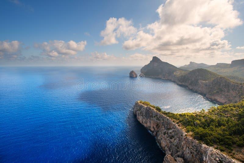 Wybrzeże przy przylądkiem Formentor obrazy royalty free