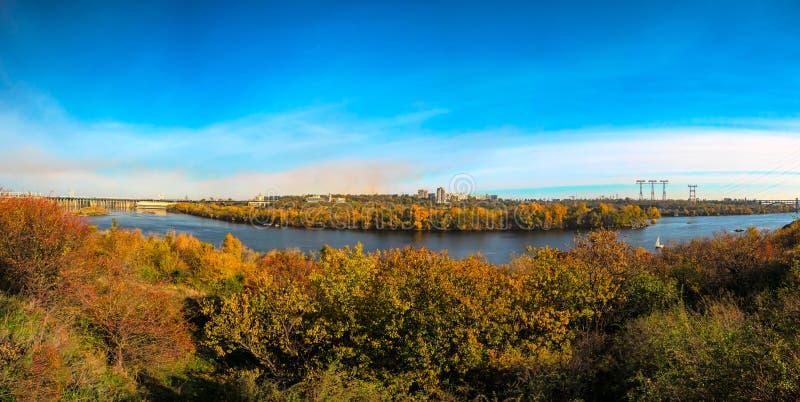 Wybrzeże stary Zaporoski - Ukraina Zaporozhye zdjęcie royalty free