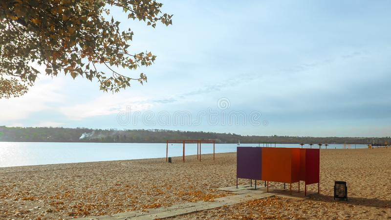 Wybrzeże stary Zaporoski - Ukraina Zaporozhye obrazy royalty free