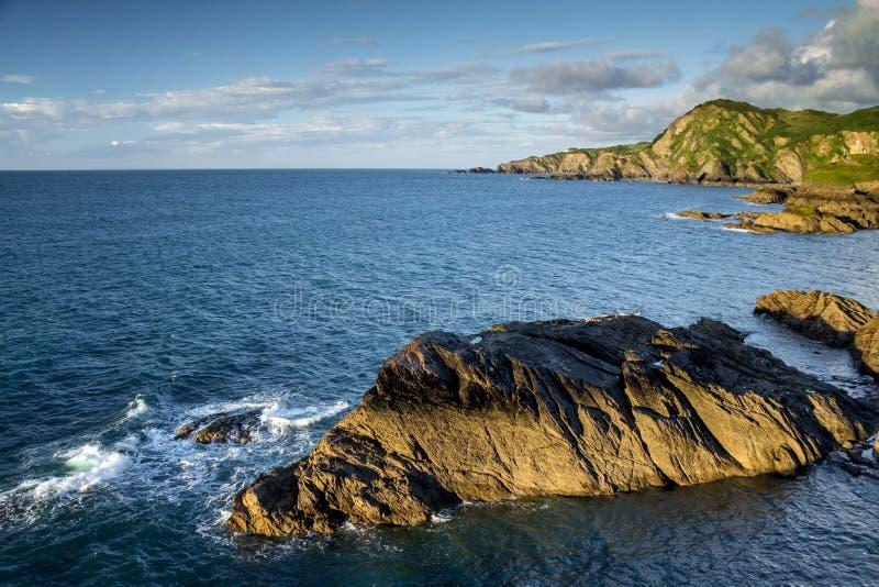 Wybrzeże w północnym Devon Blisko miasteczka Ilfracombe zdjęcie stock