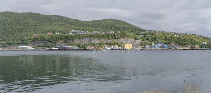 Wybrzeże Wschodniego Półwyspu, Harstad, Norwegia obrazy royalty free