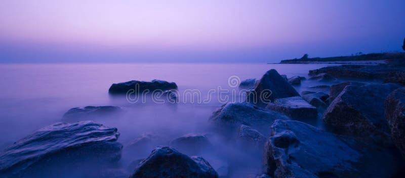 wybrzeże zachodzącego słońca obraz stock