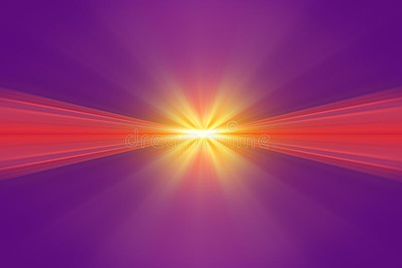 Wybuch żółty światło ilustracji