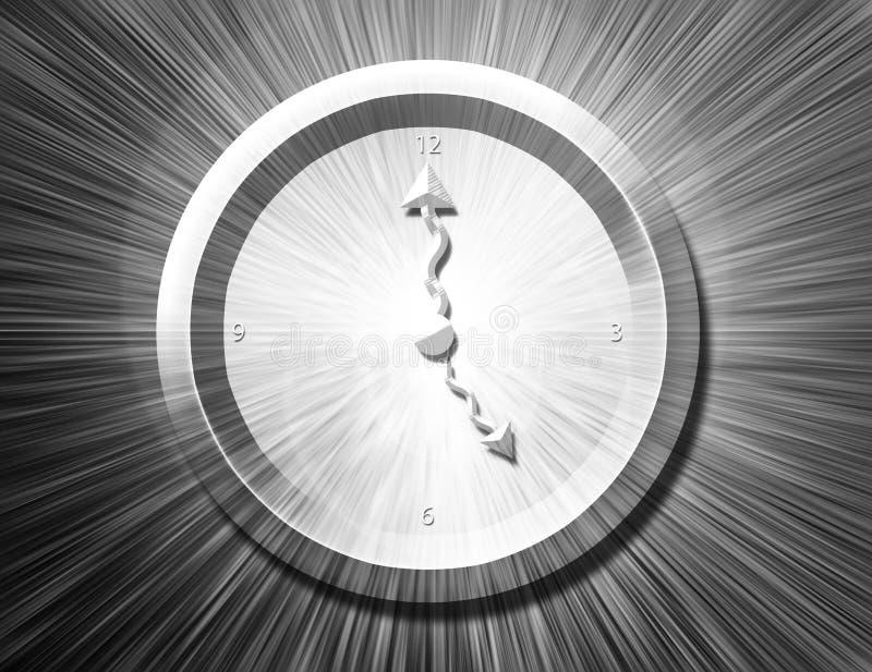 wybuch bw zegar ilustracja wektor