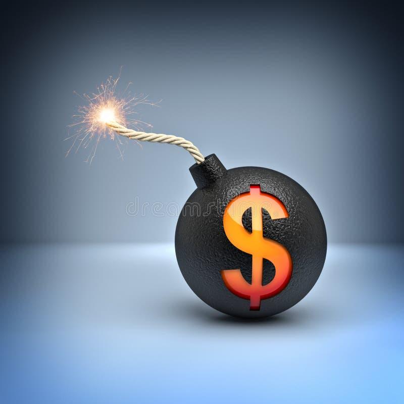 Wybuch dolar zdjęcia royalty free