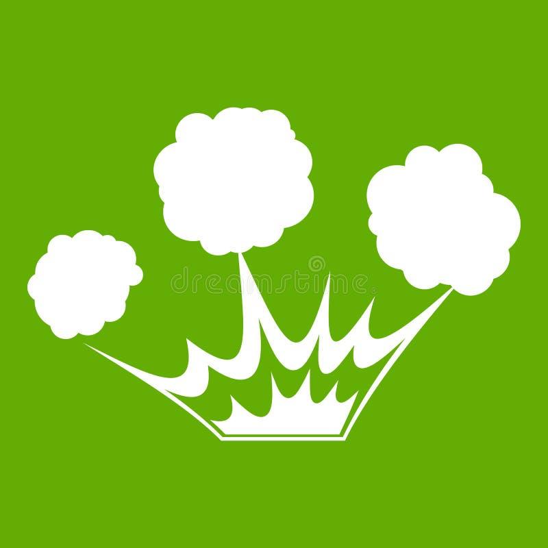Wybuch ikony zieleń royalty ilustracja