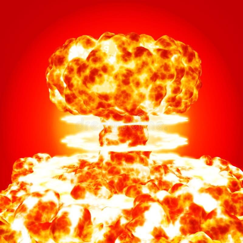 wybuch jądrowy royalty ilustracja