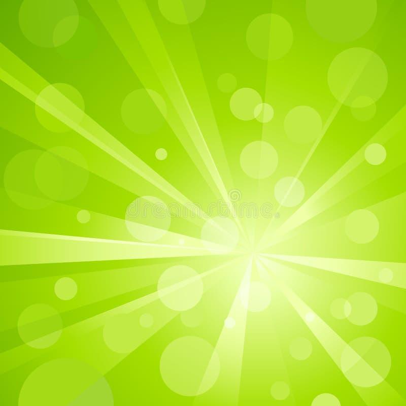 wybuch kropkuje zielone światło błyszczącego royalty ilustracja