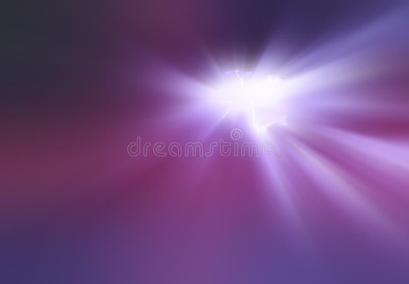 Wybuch purpura grzmotu błyskawicy tło zdjęcia stock