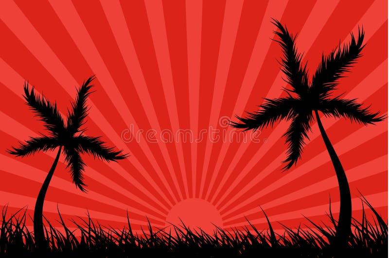 wybuch słońca tropikalne wyspy royalty ilustracja