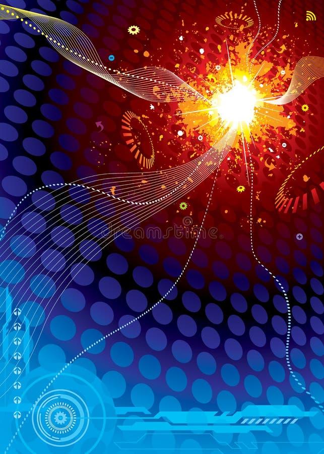 wybuch technologii kosmicznej royalty ilustracja