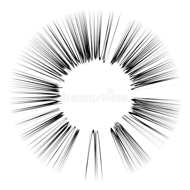Wybucha błysk, kreskówka wybuch, gwiazda wybuch ilustracji