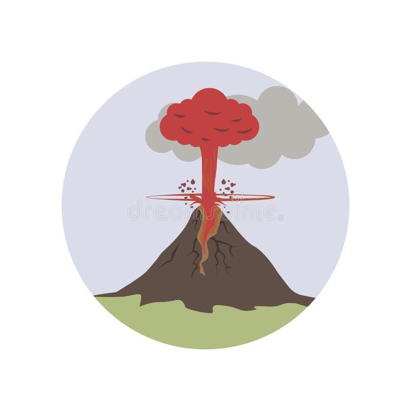wybucha, lawa, powulkaniczna kolor ikona Element globalnego nagrzania ilustracja Premii ilości graficznego projekta ikona podpisz royalty ilustracja