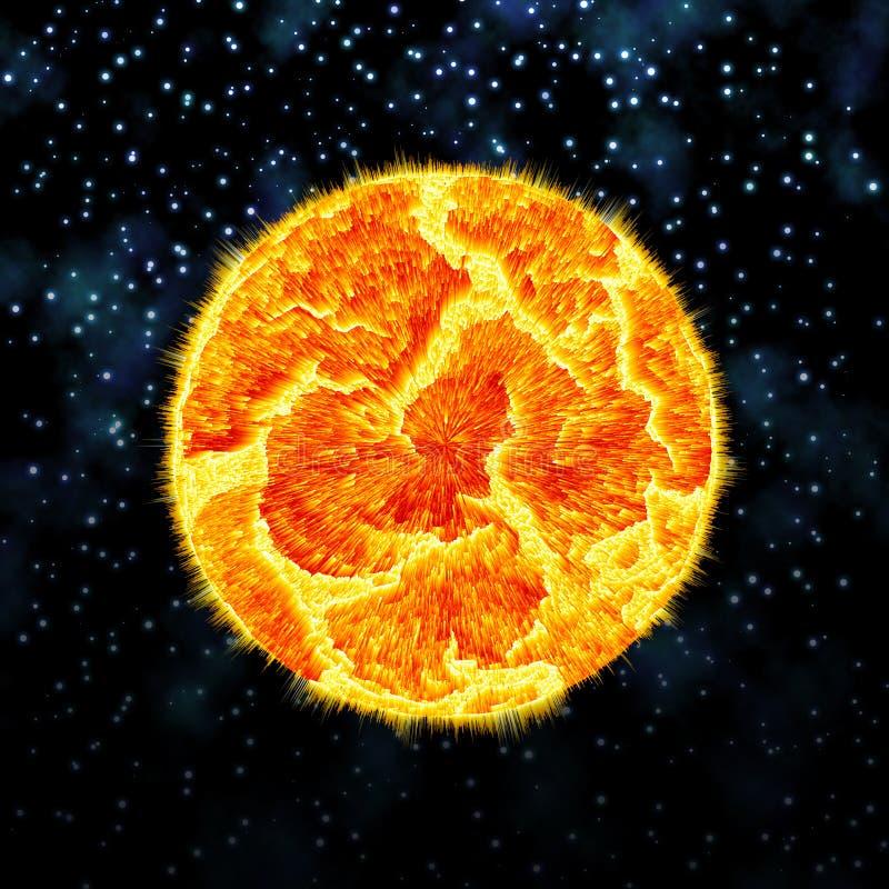 Wybucha planeta zdjęcie stock