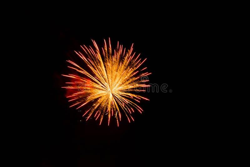 wybuchające fajerwerk zdjęcia stock