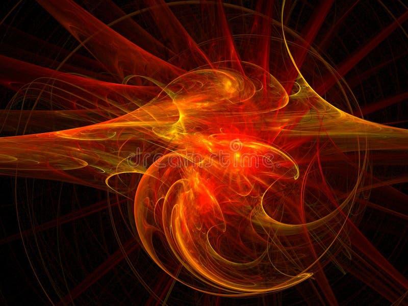 wybuchające gwiazdy ilustracji