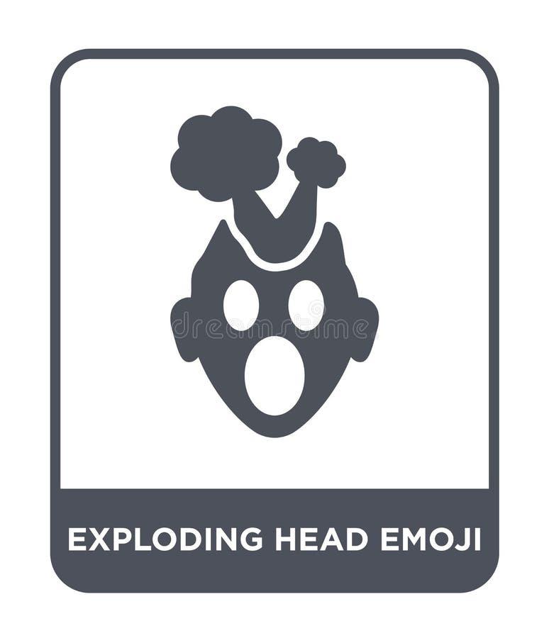 wybuchający kierowniczą emoji ikonę w modnym projekcie projektuje wybuchający kierowniczą emoji ikonę odizolowywającą na białym t ilustracji