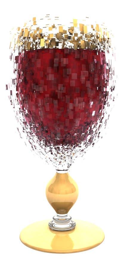 wybuchający szklany czerwone wino ilustracja wektor