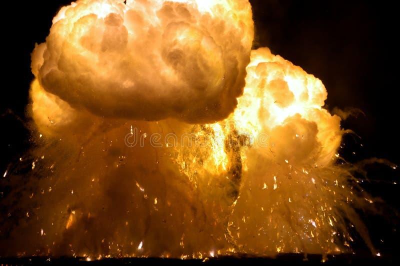 wybuchnie pożar obrazy royalty free