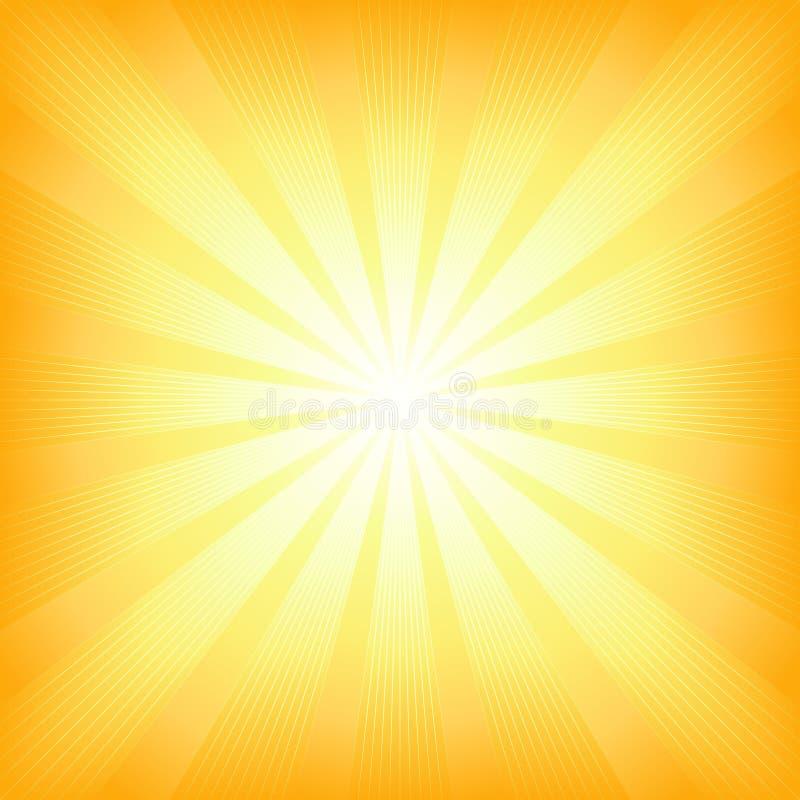 wybuchu światła kwadrata lato słońce ilustracja wektor