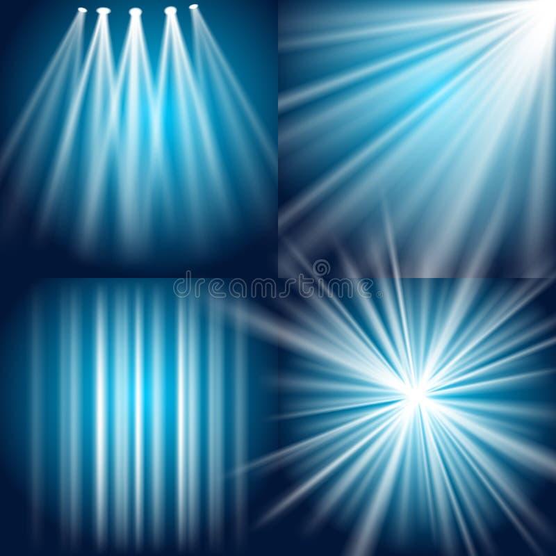 wybuchu błysku łuny światło royalty ilustracja