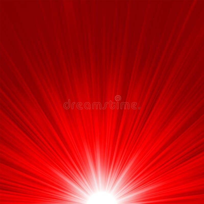 Wybuchu kolor żółty czerwieni gwiazdowy ogień i. EPS 8 royalty ilustracja
