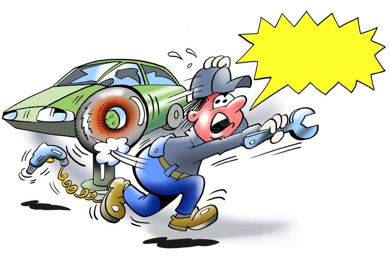 Wybuchu niebezpieczeństwo - opona wybuch ilustracji