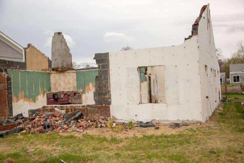 Wyburzający dom obraz stock